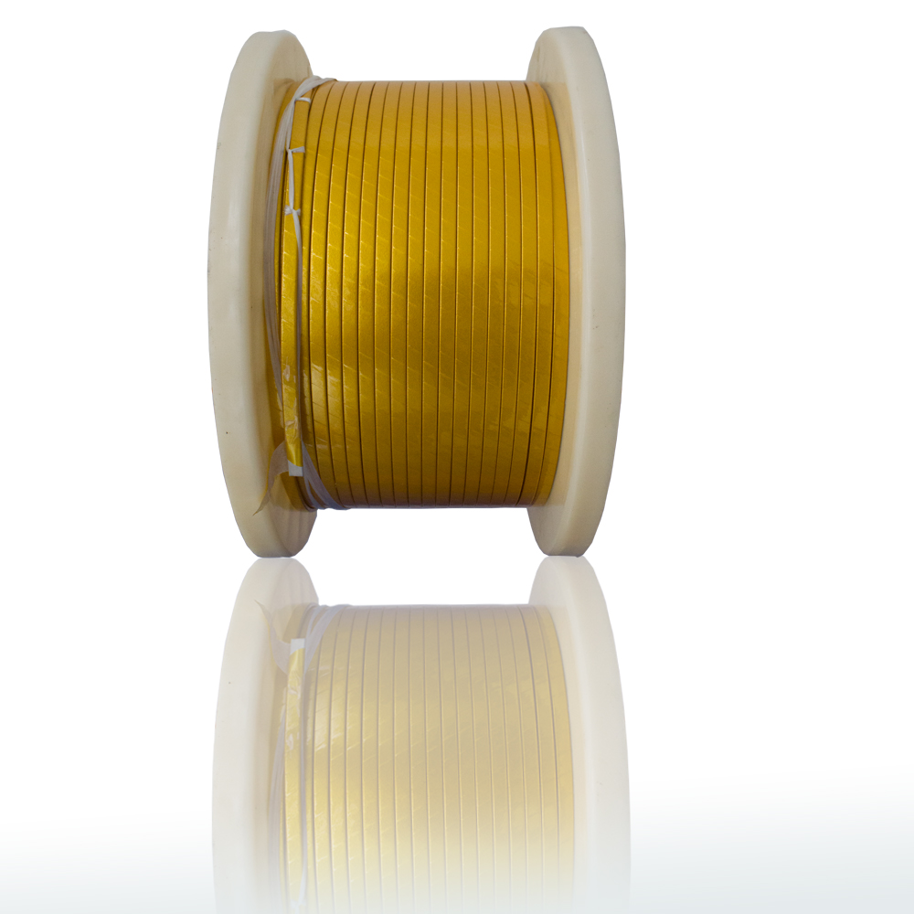 Polyimide film reinforced mica tape wrapped copper and aluminum flat ...